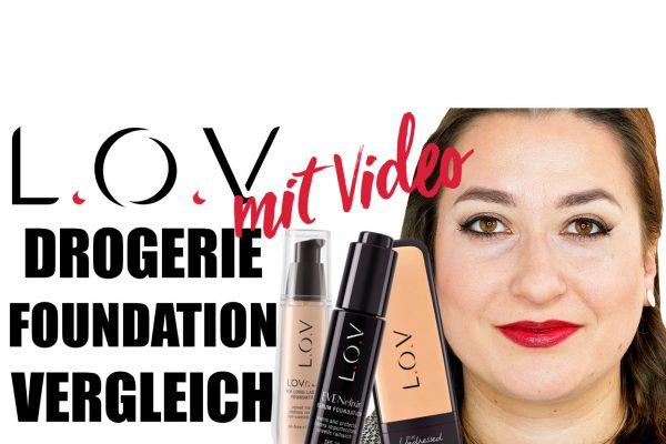 LOV Foundation Vergleich - LOV Cosmetics One Brand One Range Vergleich
