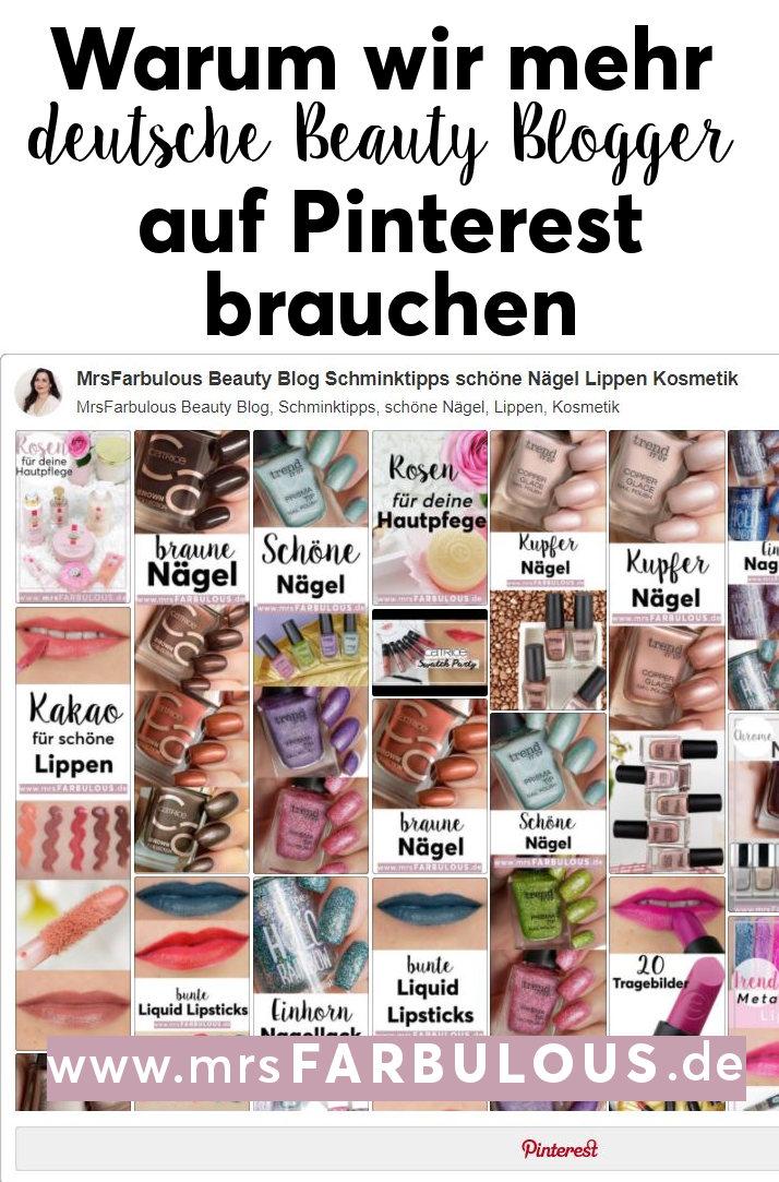 mehr deutsche Beauty Blogger auf Pinterest