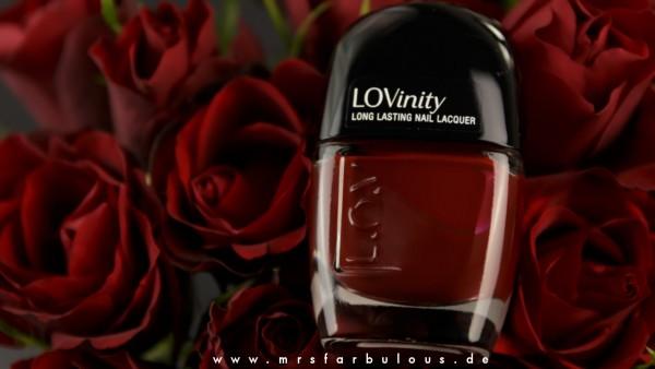 LOV Nagellack 230 Bold Burgundy LOVinity Lack auf rosen mrsfarbulous